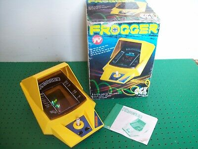 Vintage Electronic 80s Frogger Tabletop Video Game by CGL Konami,Boxed & Working