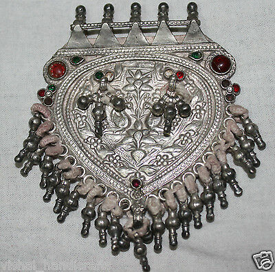 Rare Old Vintage Tribal God Goddess South Indian Solid Silver Amulet Pendant 147