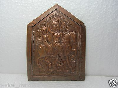Tribal God Goddess South Indian Copper Plate Amulet Pendant Statues Carved 2