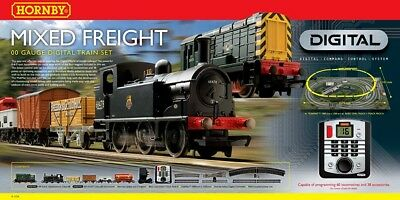Hornby R1126 Mixed Freight 00 Gauge DCC Electric Train Set  - missing parts-