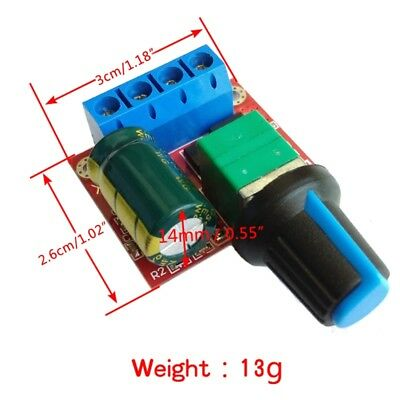 Mini DC 5A Motor PWM Speed Controller 4.5V-35V Speed Control Switch LED Dimmer