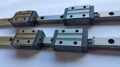 Star bearings and roller rail (Rexroth). Made in Germany. 4 star runner blocks.
