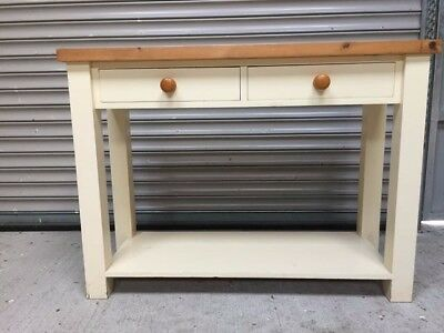 Kitchen island, butcher's block or hall table in solid painted wood