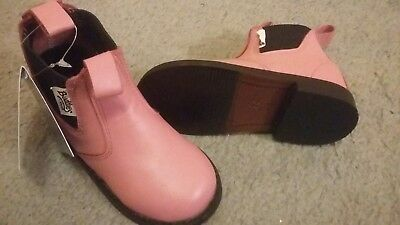 juniour size 7 pink ankle boots. Buddies by Shires. horse riding. new