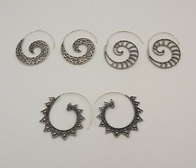 3Pcs. Lot Charming 925 Silver Plated Very Beautiful Antique Earring KA10273