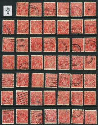 KGV Single Wmk  2d  'RED'  Die 1 BULK  Selection GU/FU x 48 [A5290]