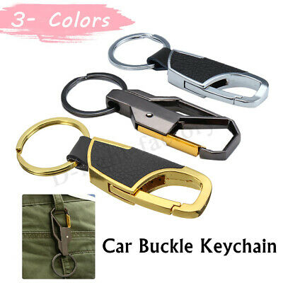 90mm Car Buckle Carabiner Keychain Key Fob Ring Clip Hook Metal Belt Climbling