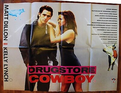 Drugstore Cowboy 1989 British Quad Movie Poster GUS VAN SANT BURROUGHS