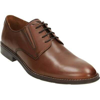 Mens Hush Puppies Bo Bronson Smart Lace Up Derby Leather Shoes Sizes 6 to 12