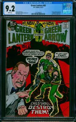 Green Lantern # 83  And a Child Shall Destroy Them !   CGC 9.2 scarce book !