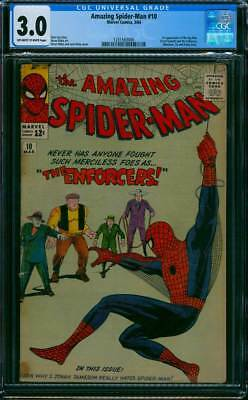 Amazing Spider-Man # 10  The Enforcers !   CGC 3.0 scarce book !