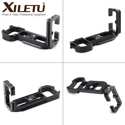 Black L Bracket Hand Grip Quick Release Vertical Camera Mount For Sony A7R