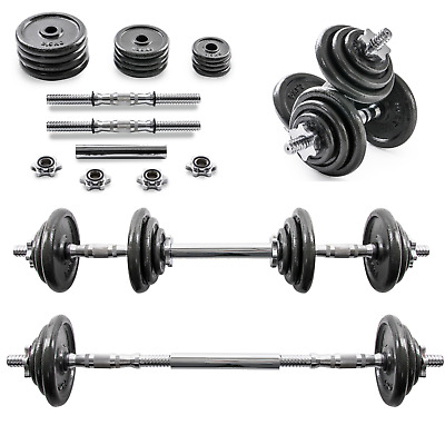 20KG Adjustable Cast Iron Dumbbell / Barbell Set For Weight Lifting Training