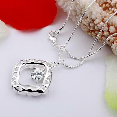 Fine Solid 925 Sterling Silver jewellery Charm Necklace pendant chain Gift