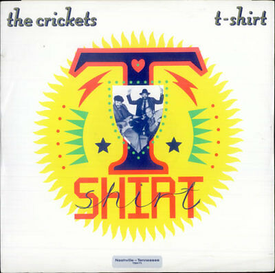 "Crickets 12"" vinyl single record (Maxi) T-Shirt UK TSHT1 CBS 1986"