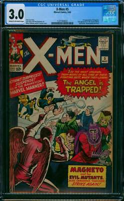 X-Men # 5  Magneto and his Evil Mutants !   CGC 3.0 scarce book !