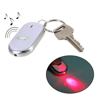 Hot Creative LED Key Finder Locator Find Lost Keychain Whistle Sound Control