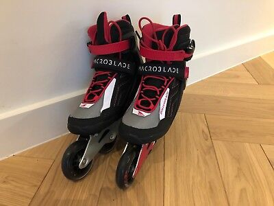 Rollerblade X-FIT MACROBLADE 80 W (WHITE/CHERRY) Size 5 UK;7 US - Only used once