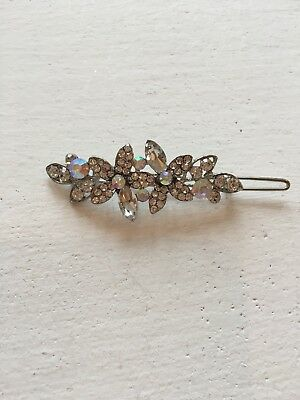 Vintage Wedding Hair Accessories flowers style diamonte clip H107