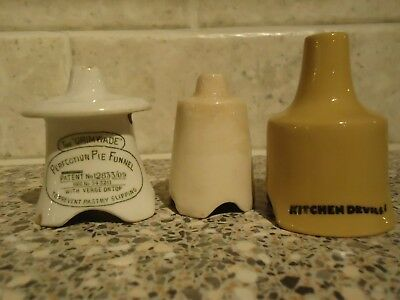 """Vintage """"the Grimwade"""" Perfection Pie Funnel And Two Others"""