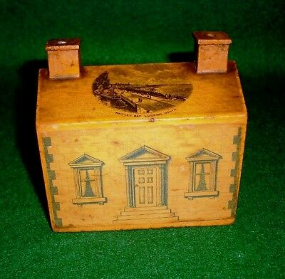 Whitley Bay Looking North Mauchline Country Cottage Money Box - Rare Find