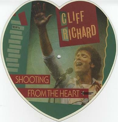 Cliff Richard Shooting From The Heart UK shaped picture disc vinyl record