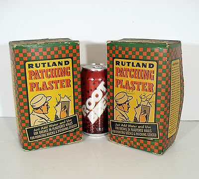 2 Vintage/Antique Full Boxes RUTLAND PATCHING PLASTER