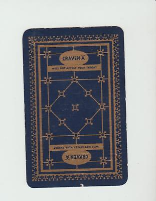 CRAVEN A TOBACCO       PLAYING CARDS  single card