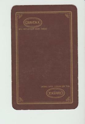 BROWN  CRAVEN A TOBACCO       PLAYING CARDS  single card
