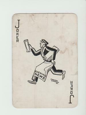 JOKER MANCHESTER EVENING NEWS       PLAYING CARDS  single card   WIDE