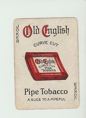 JOKER OLD ENGLISH TOBACCO     PLAYING CARDS  single card   WIDE