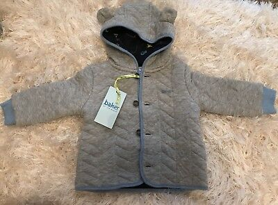 Ted Baker Grey Aeroplane Hooded Jacket Coat 6-9 Months Bnwt