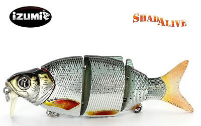 Rare IZUMI Shad Alive 105 SD Swimbait Diver lip Fishing lure Jointed bait Tackle