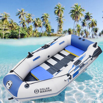 3-4 Person Inflatable Boat 2.3m PVC Kayak Rafting Fishing Dinghy Tender Pontoon