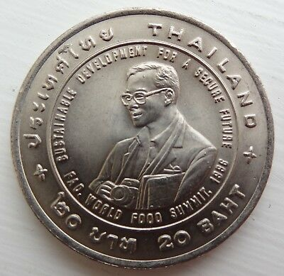 1996 Thailand 20 Baht Coin, World Food Summit