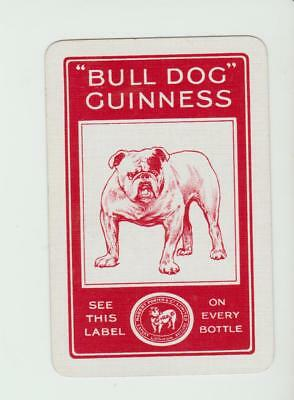 BULL DOG GUINNESS BREWERY     PLAYING CARDS  single card