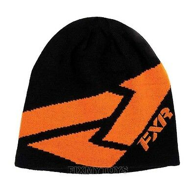 FXR Black / Orange ICON BEANIE WINTER HAT CAP - NEW WITH TAGS - One Size