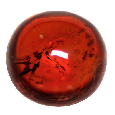 5.17 Cts Natural Top Fanta Orange Mandarin Spessartite Garnet Round Cab Namibia