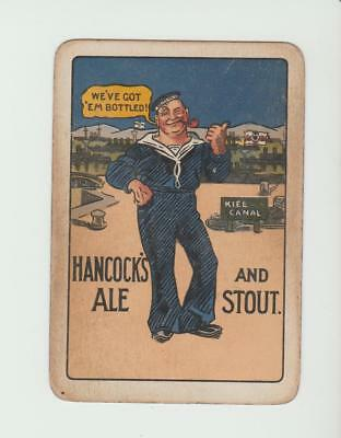 HANCOCKS  BREWERY     PLAYING CARDS  single card   WIDE