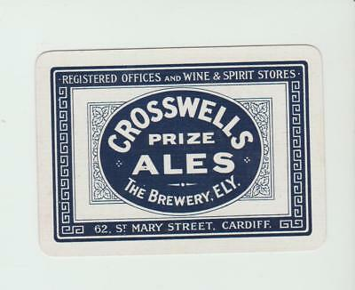CROSSWELLS  BREWERY     PLAYING CARDS  single card   WIDE