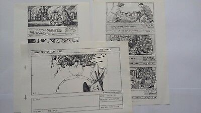 """PINK FLOYD - """" The WALL """" - Artists Production Copy Storyboards - 1981"""