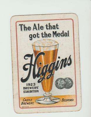 HIGGINS  BREWERY     PLAYING CARDS  single card   WIDE