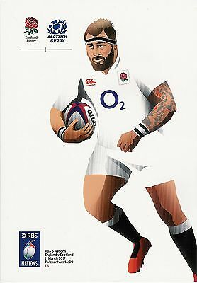 England v Scotland rugby 6 nations 11/3/17 Twickenham programme new