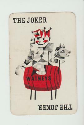 JOKER HORSE WATNEYS  BREWERY     PLAYING CARDS  single card