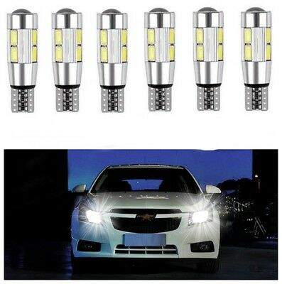 T10 White 5630 LED 194 W5W 10 SMD Canbus Error Free Auto Side Wedge Light Bulb