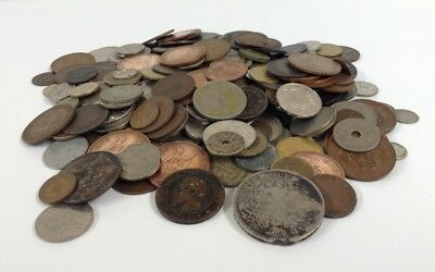 LARGE JOBLOT OF VINTAGE BRITISH AND FOREIGN COINS c1864-1980(1.4kg)