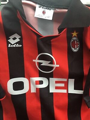"1995-96 Ac Milan Adult Large 44""112cm Chest Lotto Trikot Maglia Maillot Camiseta"