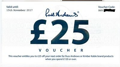 Russ Andrews £25 money off voucher valid to the 15th November