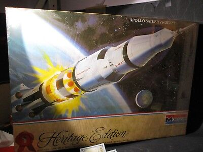 Monogram Heritage Edition #1 Apollo Saturn V Rocket 1/144 Kit # 6051 Nib B988 Pm