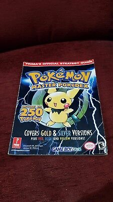 Pokemon Prima Official Strategy Guide Master Pokedex Gold Silver Red Blue Yellow